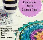 choosing an adult coloring book